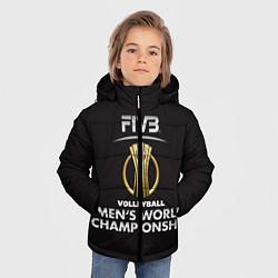 Куртка зимняя для мальчика Волейбол 93 цвета 3D-черный — фото 2