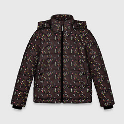 Детская зимняя куртка для мальчика с принтом Унесённые призраками, цвет: 3D-черный, артикул: 10096214906063 — фото 1