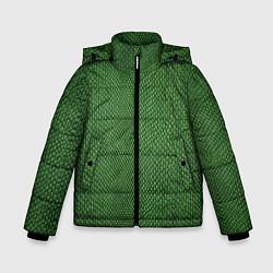 Куртка зимняя для мальчика Змеиная зеленая кожа - фото 1