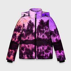 Детская зимняя куртка для мальчика с принтом Hawaii dream, цвет: 3D-черный, артикул: 10096437206063 — фото 1