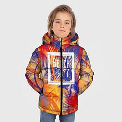 Детская зимняя куртка для мальчика с принтом Beach Party, цвет: 3D-черный, артикул: 10096481606063 — фото 2
