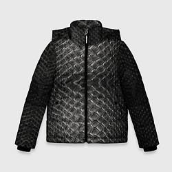 Куртка зимняя для мальчика Черная кожа цвета 3D-черный — фото 1