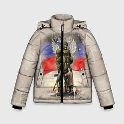 Куртка зимняя для мальчика Солдат и дитя цвета 3D-черный — фото 1