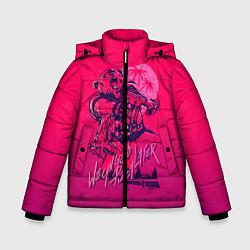 Куртка зимняя для мальчика We grab pizza later цвета 3D-черный — фото 1