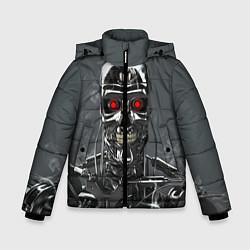 Куртка зимняя для мальчика Скелет Терминатора цвета 3D-черный — фото 1