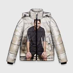 Детская зимняя куртка для мальчика с принтом Улыбчивый Месси, цвет: 3D-черный, артикул: 10099708706063 — фото 1