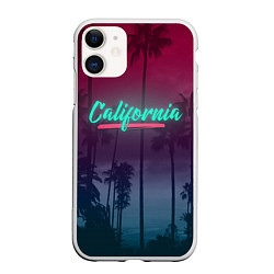Чехол iPhone 11 матовый California цвета 3D-белый — фото 1