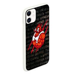 Чехол iPhone 11 матовый Кабан-качок цвета 3D-белый — фото 2