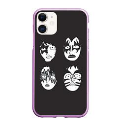 Чехол iPhone 11 матовый KISS Mask цвета 3D-сиреневый — фото 1