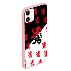 Чехол iPhone 11 матовый Лев герба Нидерландов цвета 3D-баблгам — фото 2