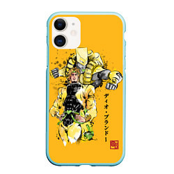 Чехол для iPhone 11 матовый с принтом JoJo Bizarre Adventure, цвет: 3D-мятный, артикул: 10200074505889 — фото 1
