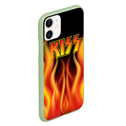 Чехол iPhone 11 матовый KISS цвета 3D-салатовый — фото 2