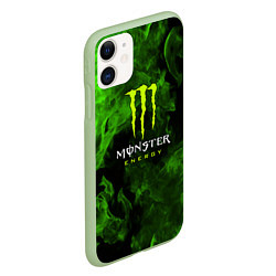 Чехол iPhone 11 матовый MONSTER ENERGY цвета 3D-салатовый — фото 2