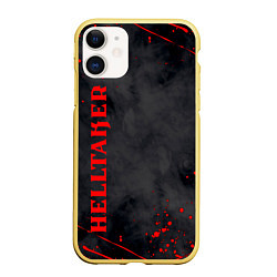 Чехол iPhone 11 матовый Helltaker Logo Z цвета 3D-желтый — фото 1