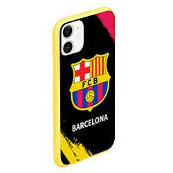 Чехол iPhone 11 матовый BARCELONA БАРСЕЛОНА цвета 3D-желтый — фото 2