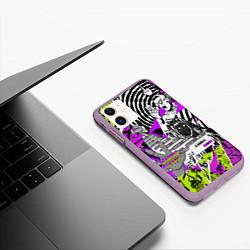 Чехол iPhone 11 матовый Watch Dogs: Legion цвета 3D-сиреневый — фото 2