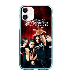 Чехол iPhone 11 матовый Bullet for my valentine цвета 3D-мятный — фото 1