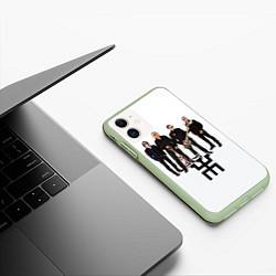 Чехол iPhone 11 матовый Группа Пикник цвета 3D-салатовый — фото 2