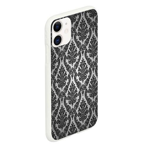 Чехол iPhone 11 матовый Гламурный узор / 3D-Белый – фото 2