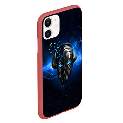 Чехол iPhone 11 матовый Pirate Station: Blue Space цвета 3D-красный — фото 2