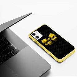 Чехол iPhone 11 матовый Wu-Tang Clan: Grid цвета 3D-желтый — фото 2