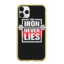 Чехол iPhone 11 Pro матовый The iron never lies цвета 3D-желтый — фото 1