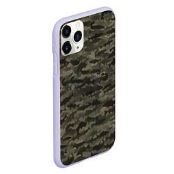 Чехол iPhone 11 Pro матовый Камуфляж рыбака цвета 3D-светло-сиреневый — фото 2