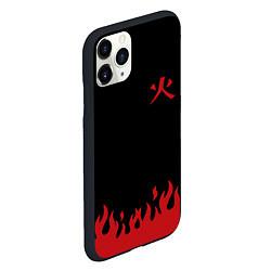 Чехол iPhone 11 Pro матовый HOKAGE MINATO на спине цвета 3D-черный — фото 2