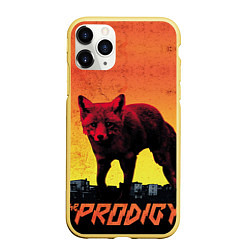Чехол iPhone 11 Pro матовый The Prodigy: Red Fox цвета 3D-желтый — фото 1