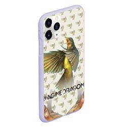 Чехол iPhone 11 Pro матовый Imagine Dragons: Fly цвета 3D-светло-сиреневый — фото 2