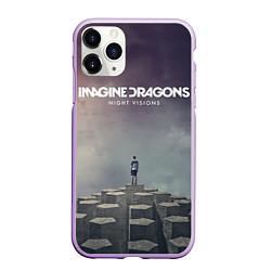 Чехол iPhone 11 Pro матовый Imagine Dragons: Night Visions цвета 3D-сиреневый — фото 1