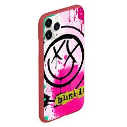 Чехол iPhone 11 Pro матовый Blink-182: Purple Smile цвета 3D-красный — фото 2