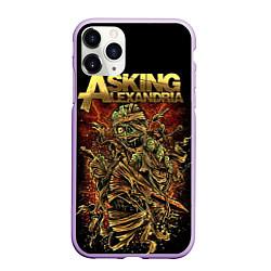 Чехол iPhone 11 Pro матовый Asking Alexandria цвета 3D-сиреневый — фото 1