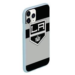 Чехол iPhone 11 Pro матовый Los Angeles Kings цвета 3D-голубой — фото 2