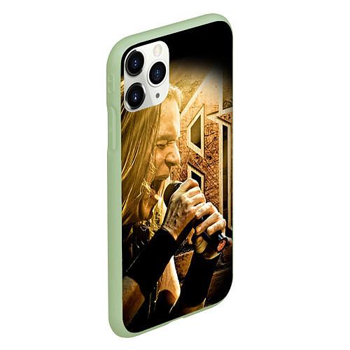 Чехол iPhone 11 Pro матовый Кипелов: Ария / 3D-Салатовый – фото 2