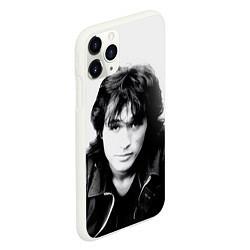 Чехол iPhone 11 Pro матовый Кино: Виктор Цой цвета 3D-белый — фото 2
