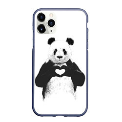 Чехол iPhone 11 Pro матовый Panda Love