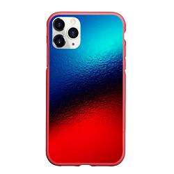 Чехол iPhone 11 Pro матовый Синий и красный