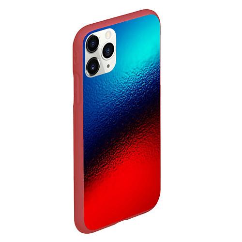 Чехол iPhone 11 Pro матовый Синий и красный / 3D-Красный – фото 2