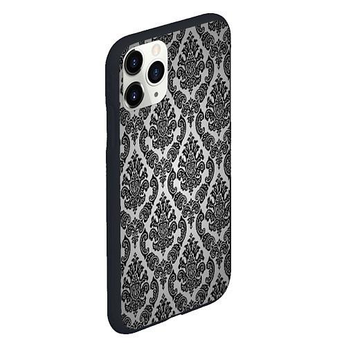 Чехол iPhone 11 Pro матовый Гламурный узор / 3D-Черный – фото 2
