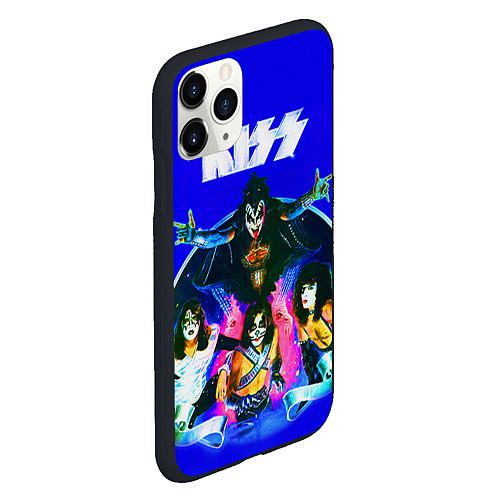 Чехол iPhone 11 Pro матовый Kiss Show / 3D-Черный – фото 2