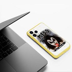 Чехол iPhone 11 Pro матовый KISS: Adult demon wig цвета 3D-желтый — фото 2