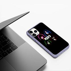 Чехол iPhone 11 Pro матовый KISS: Acid Colours цвета 3D-светло-сиреневый — фото 2