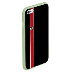 Чехол iPhone 6/6S Plus матовый Mass Effect N7 цвета 3D-салатовый — фото 2