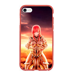 Чехол iPhone 6/6S Plus матовый Fairy Tail цвета 3D-красный — фото 1
