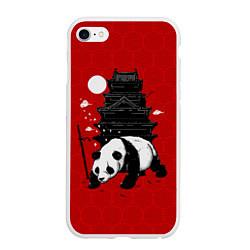Чехол iPhone 6/6S Plus матовый Panda Warrior цвета 3D-белый — фото 1