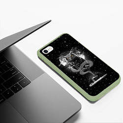 Чехол iPhone 6/6S Plus матовый Ночная сова цвета 3D-салатовый — фото 2
