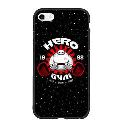 Чехол iPhone 6/6S Plus матовый Hero Gym цвета 3D-черный — фото 1