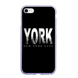 Чехол iPhone 6/6S Plus матовый New York City цвета 3D-светло-сиреневый — фото 1