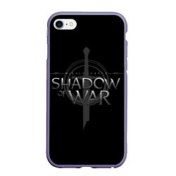 Чехол iPhone 6/6S Plus матовый Shadow of War цвета 3D-серый — фото 1
